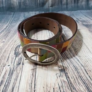 Fossil Accessories - Fossil Genuine Leather Patchwork Belt Size L
